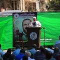 صورة من امام الصليب الاحمر الدولي تضامنا مع الأسرى المضربين عن الطعام
