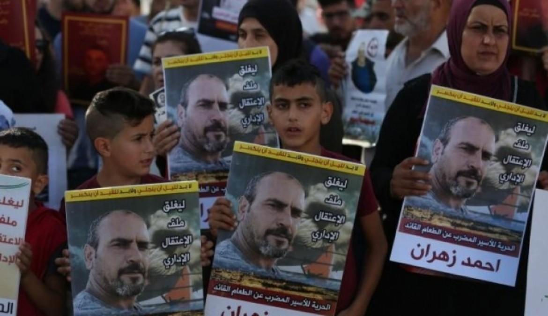 الأسير أحمد زهران يدخل يستمر في اضرابه عن الطعام