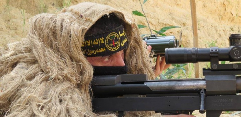 وحدة القنص التابعة لسريا القدس الجناح العسكري لحركة الجهاد الاسلامي في فلسطين