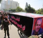 صور:الشعبية تنظم جنازة رمزية للشهيد عمر النايف بغزة2016/2/29