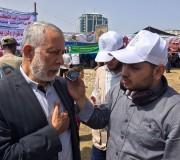 تغطية إذاعة صوت الأسرى لخيمة الاضراب في غزة
