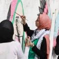 رسم جداريات في غزة