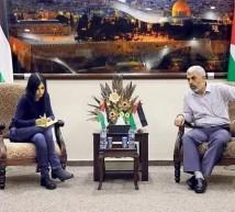 السنوار مع صحفية يدعوت أحرونوت