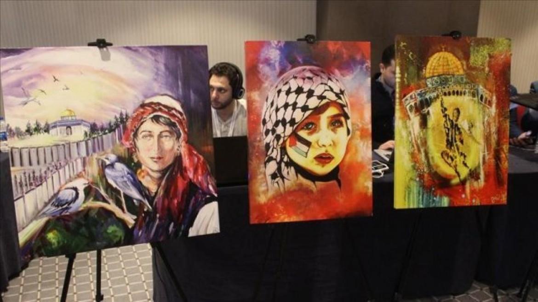 إسطنبول: لوحات فنية تستعرض واقع وتاريخ فلسطين