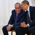 الرئيس الأمريكي السابق اوباما و الرئيس الوزراء الفلسطيني السابق سلام فياض
