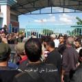 جانب من استقبال الأسير الزعانين أمام معبر بيت حانون