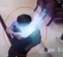 تصوير من الفيديو لحظة انفجار الهاتف