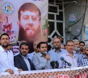 وقفة دعما وإسنادا للأسير خضر عدنان المضرب عن الطعام منذ 44 يوما في سجون الاحتلال