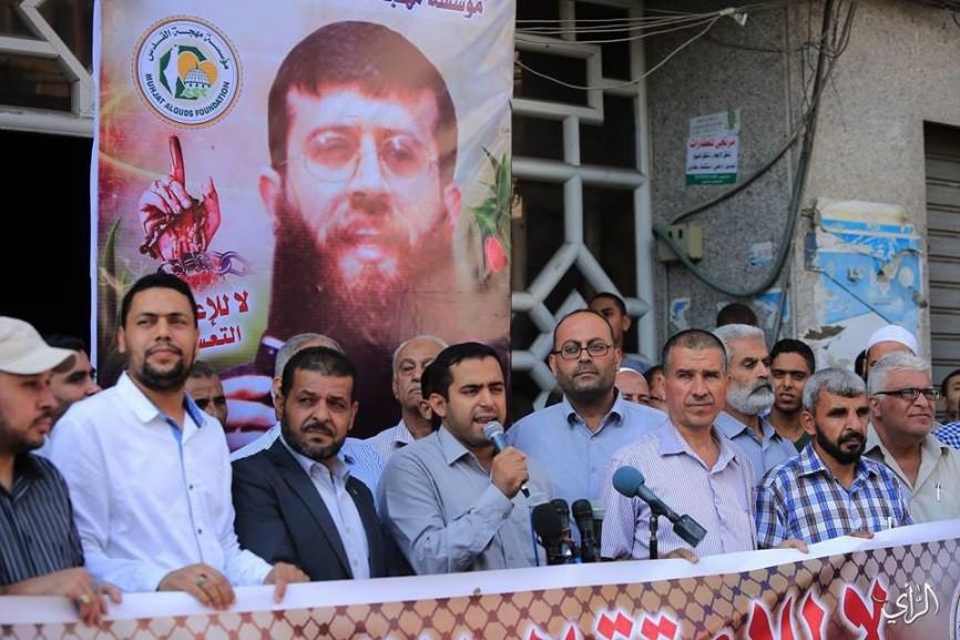 كلمة الناطق باسم مؤسسة مهجة القدس لشهداء والاسرى أ. طارق ابو شلوف