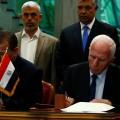 توقيع المصالحة الفلسطينية بين فتح وحماس في القاهر