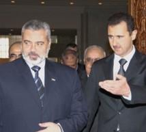 الرئيس الأسد مع د.اسماعيل هنية