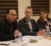 حلقة نقاش نظمها اتحاد الاذاعات والتلفزيونات الفلسطينية
