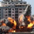 الطائرات الاحتلال الصهيوني تقصف برج الجلاء التي تضم 4 مؤسسات اعلامية محلية ودولية