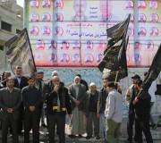 بالصور :مهجة القدس تفتتح جدارية  للاسرى الذين امضوا أكثر من 20عاماً فى سجون الاحتلال بغزة 2016/2/28