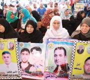 اعتصام اهالى الاسرى امام مقر الصليب الاحمر بمدينة غزة 25-9