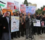 صور: وقفة لفصائل العمل الوطني والاسلامي تضامناً مع القيق بساحة الجندى المجهول بغزة