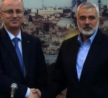 رئيس المكتب السياسي لحركة حماس اسماعيل هنية و رئيس الوزراء الفلسطيني د. رامي الحمد الله
