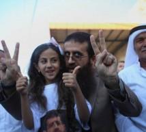 خضر عدنان مع عائلته المضرب عن الطعام اكثر من 50 يوم