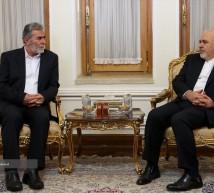 وزير الخارجية الإيراني و الامين العام لحركة لجهاد الاسلامي في فلسطين