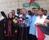 مؤتمر صحفي للجنة الأسرى أمام الصليب الأحمر بغزة احتجاجا على قمع الأسيرات في السجون الثلاثاء 11/7/2017