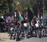 بالصور: مسيرة محمولة على الدراجات النارية لحركة الجهاد الاسلامي بمحافظة غزة الخميس11/5/2017