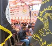 حركة الجهاد الاسلامي تشارك خيمة التضامن مع الاسرى المضربين في قلب ساحة السرايا بمدينة غزة