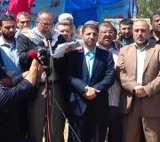 مؤتمر صحفي للجنة الأسرى على أرض السرايا وسط مدينة غزة الأربعاء 19/4/2017