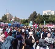 صور فعاليات خيمة التضامن مع الاسرى المضربين في غزة