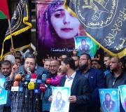 احتفال حركة الجهاد الاسلامي بتحرير لينا الجربوني أمام شوا وحصري بغزة الأحد 16/4/2017