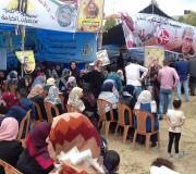 اليوم الثامن لخيمة التضامن مع اضراب الأسرى على أرض السرايا وسط مدينة غزة الاثنين 24/4/2017