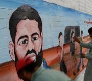 جدارية فنية تضامنًا مع الأسير المضرب علان