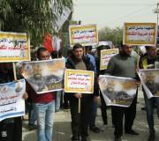 الرابطة الإسلامية تشارك في وقفة تضامنية مع عائلة الشهيد باسل الأعرج ورفاقه في سجون الأحتلال